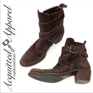 Cole Haan G Series | Brown Leather Suede Boots